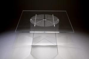 Tavolo quadrato di Design in Plexiglas