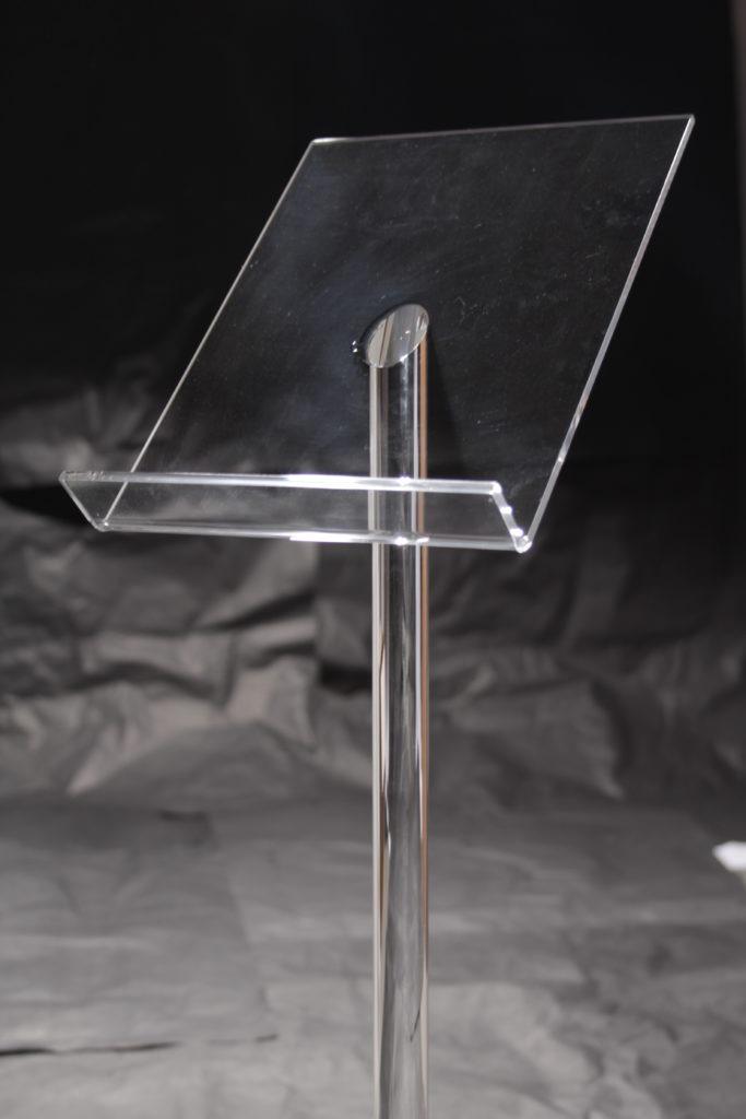 Leggio in Plexiglass - Esempio Piegatura a caldo