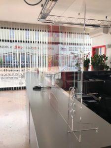Schermo protettivo anti covid in plexiglas