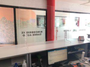 Pannelli Plexiglass protettivi da Banco