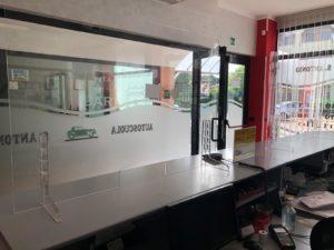 Parafiato da banco in plexiglass