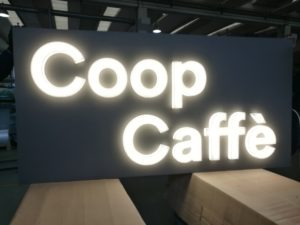 Insegna Luminosa Coop Caffè