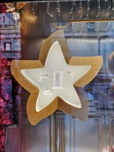 Stella di Natale illuminata Dodo in Plexiglas
