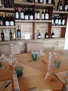 ristorante divisorio di protezione in plexiglass